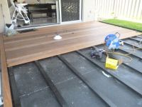 Deck over Concrete - for front porch | Outdoors ...
