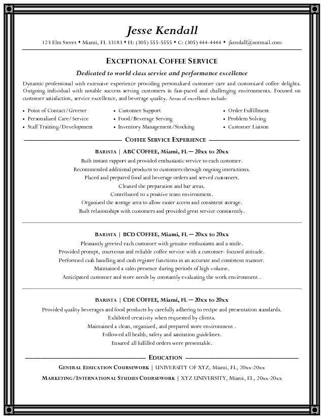 best bartending resume templates