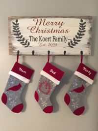 25+ best ideas about Christmas stocking holders on ...
