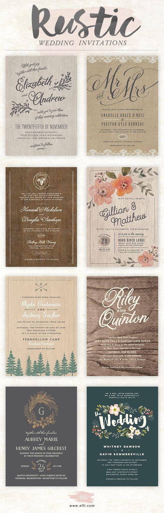 the most unique wedding invitations wedding invitations Rustic wedding invitations Bella Collina Weddings
