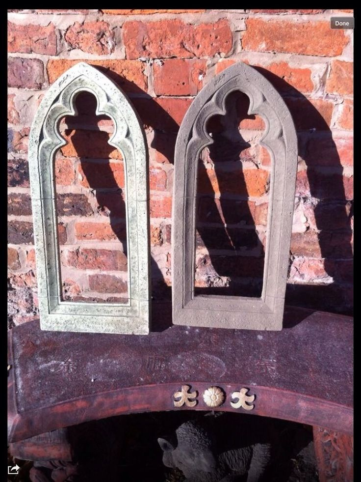 Outdoor Patio Gardens Gothic Garden Mirror Frame Latex And Fibreglass Mold
