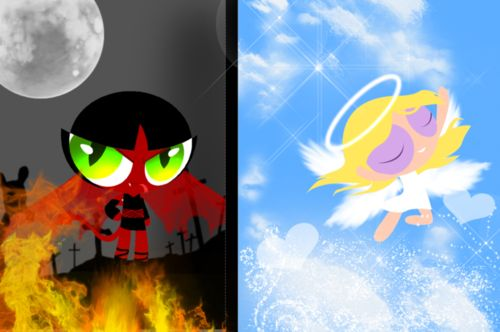 Powerpuff Girls Wallpaper Cute Devil And Angel Via Tumblr Powerpuff Girls
