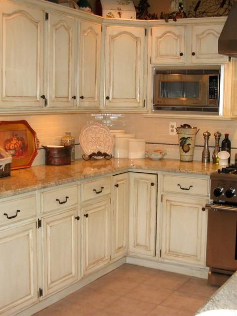 1000+ Ideas About Distressed Kitchen Cabinets On Pinterest