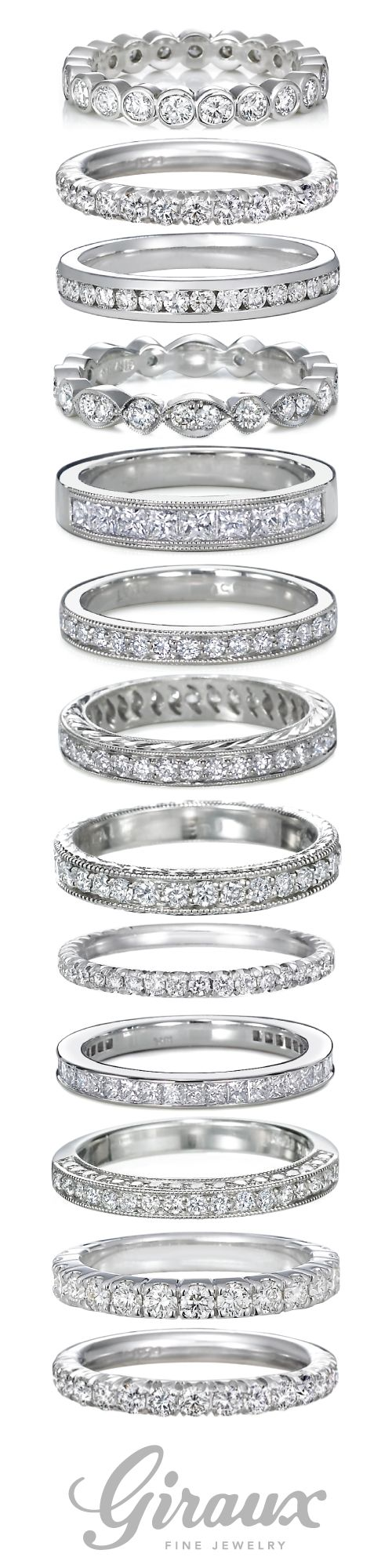 diamond wedding bands big diamond wedding rings Diamond Ladies Wedding Bands come in so many shapes and styles Giraux Fine Jewelry is