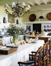 Ginny Magher's kitchen in her restored stone farmhouse ...