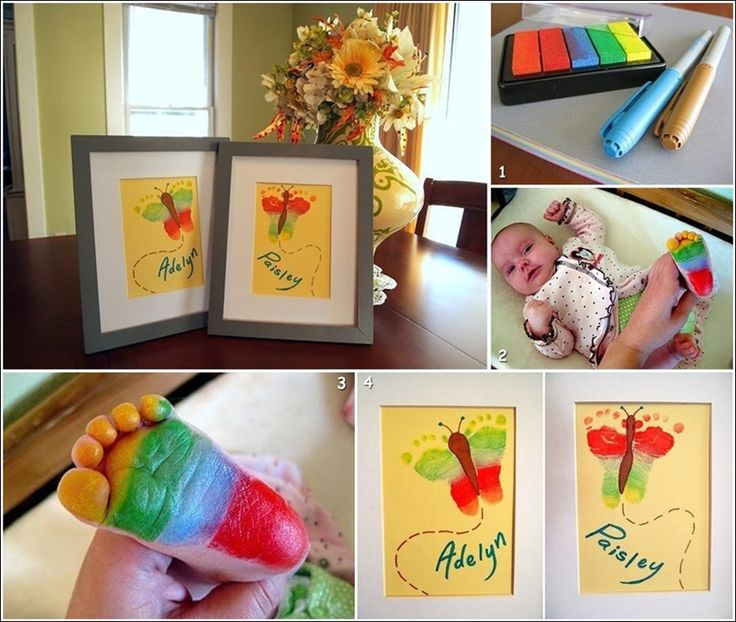 Cute Baby Footprint Butterfly Art For You To Try If You