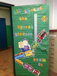 Train Theme Classroom/ Door Decor | Train theme classroom ...