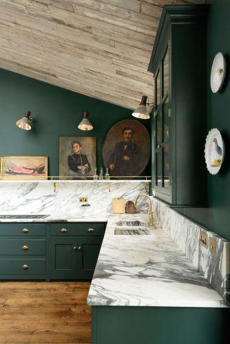 green marble green kitchen countertops Peckham Rye deVOL Kitchens More