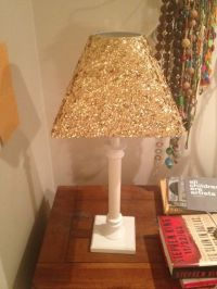 25+ best ideas about Glitter Lampshade on Pinterest   Gold ...