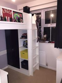 Tiny box room, ikea stuva loft bed. Making the most of ...