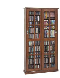 Sliding Glass Door DVD Cabinet Racks | Solutions | Kay C ...