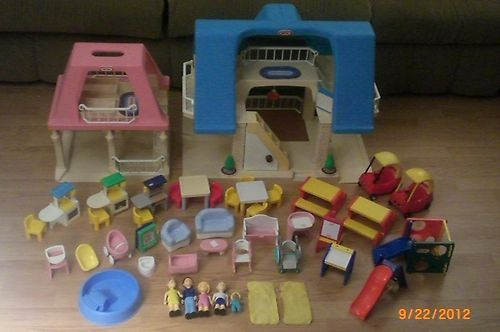 Baby Dolls Episode Huge Lot Little Tikes Blue Roof Dollhouse Grandma 39;s House