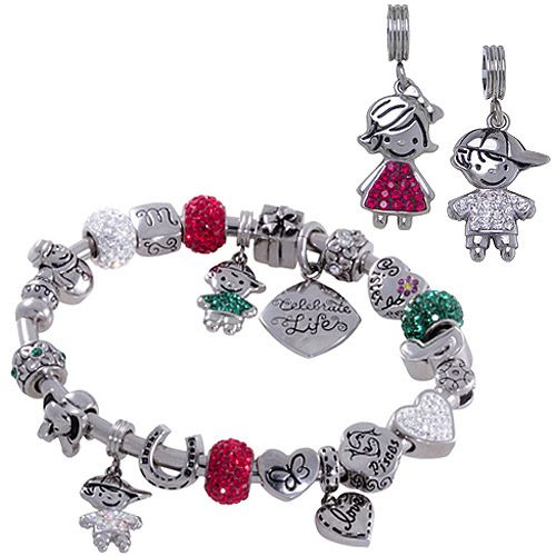 Connections From Hallmark Birthstone Boy And Girl Charm 3