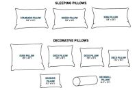 Standard Pillow Sizes | Cheat Sheets | Pinterest | Throw ...
