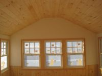 Pine ceiling and wainscoting | Camp decorating | Pinterest ...