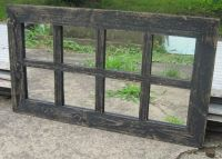 Details about Reclaimed Barn Wood 8-Pane Window Mirror ...