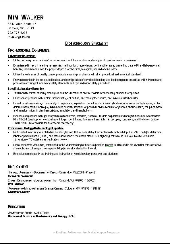 resume templates for recent science college graduates