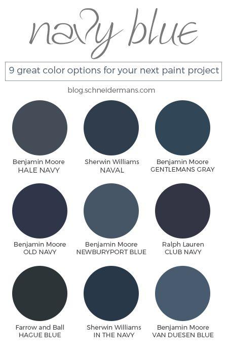 Top 25+ best Navy paint colors ideas on Pinterest