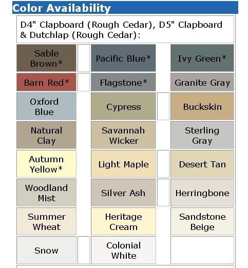 Norandex Siding Color Chart Otvod
