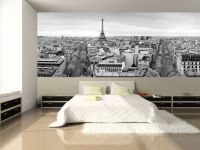 Panoramic View of Paris Wall Mural | Bedroom wallpaper ...