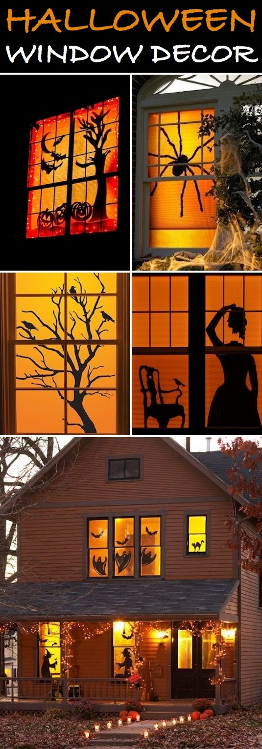 Vintage halloween window decorations - Vintage Halloween Window Decorations 16 Easy But Awesome Homemade Halloween Decorations With Photo Tutorials Download