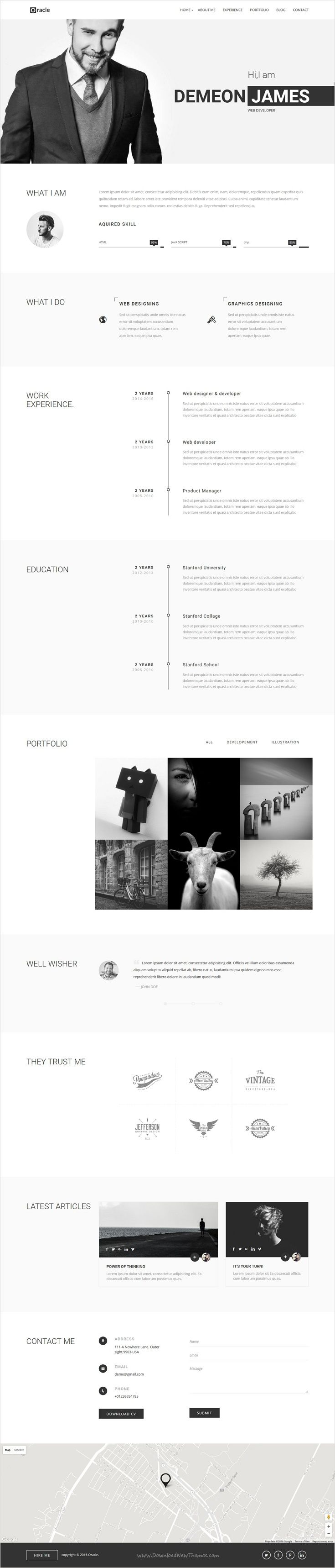 best muse resume website templates
