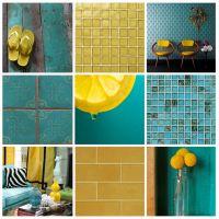 Yellow And Turquoise Bathroom   www.pixshark.com - Images ...