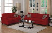 Grey Living Room Red Couch