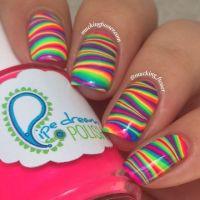 Best 25+ Rainbow nail art ideas on Pinterest | Rainbow ...