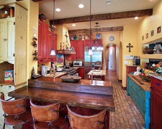 Colonial Kitchen Color Ideas With Dark Cabinets Southwest Kitchen | Southwest Kitchens | Pinterest