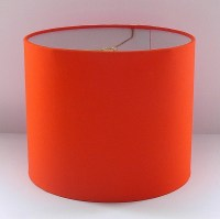 Orange Lamp Shade Small Drum Shade Other Colors Available ...