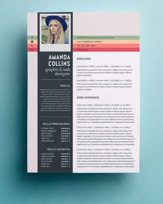 Resume Design Templates Typographic 50 Professional Html Resume - unique resume templates