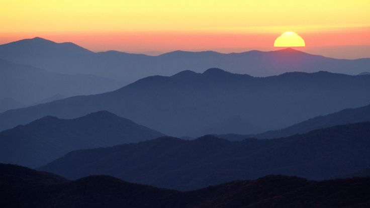 Free Wallpaper Fall Colours Download Background Great Smoky Mountains At Sunset