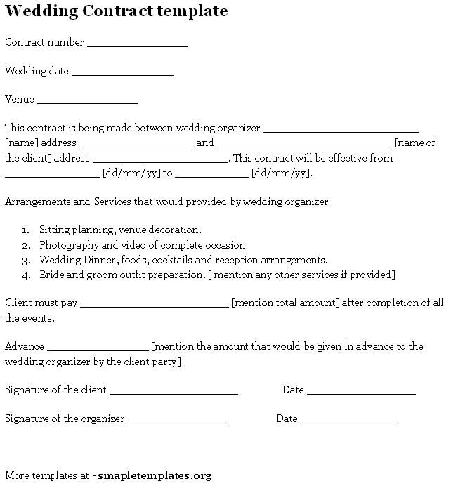 venue contract template
