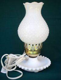 BEAUTIFUL VINTAGE CA 1950 s FENTON HOBNAIL MILK GLASS ...