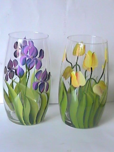 78+ Images About One Stroke Paint On Other Glass On Pinterest