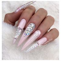 25+ best ideas about Stiletto nails glitter on Pinterest ...