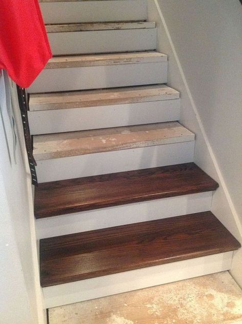 1000+ ideas about Redoing Stairs on Pinterest