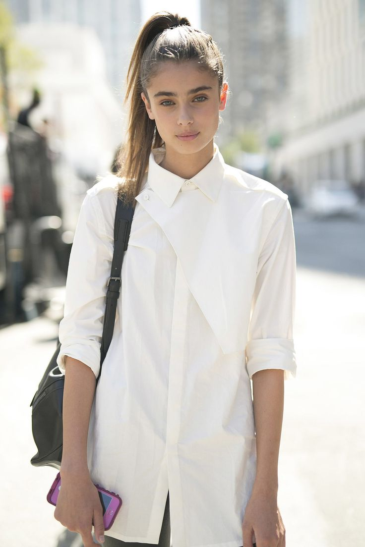 1 Style Nyfw Street Style Day 1 | The White, Sleek Ponytail And Style