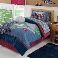 Sports Boys Baseball Field Themed TWIN Comforter Set, 6pc ...