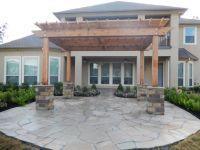 Arizona oak flagstone patio with oklahoma chop rock ...