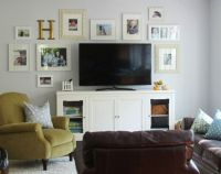 decorating around a flat screen tv | Living Room Ideas ...