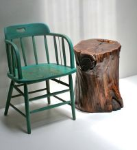 Walnut Tree Stump Nightstand End Table Bed Side by ...