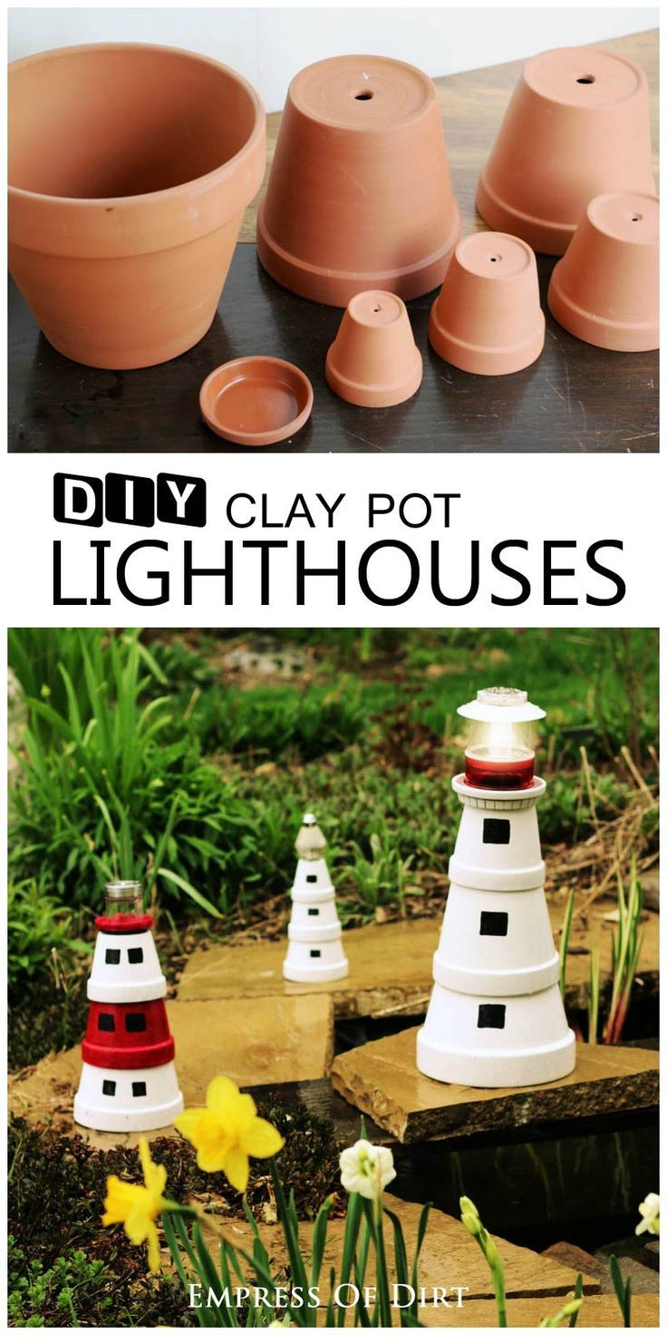 Small clay pots for crafts - Small Clay Pots For Crafts Diy Clay Pot Lighthouse Download