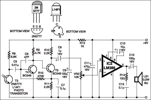 laser communication transmitter amp receiver circuit diagram
