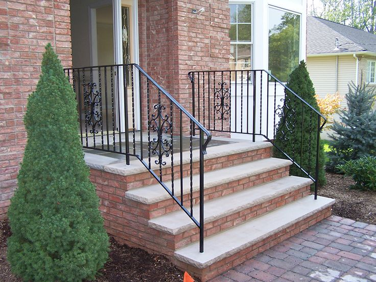 Wrought Iron Railings For Stairs Exterior Find This Pin