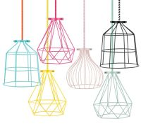 geo metal light cage mint - mint wire lampshade, mint wire ...
