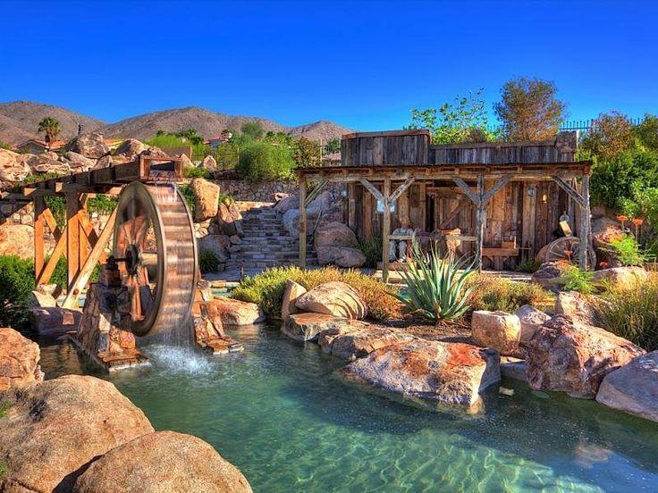 Crazy backyard pool, lazy river, hot tub, grotto 9/9