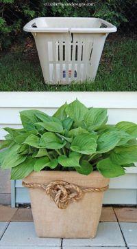 Laundry Basket Planter ~ What a great idea!   Cottage ...