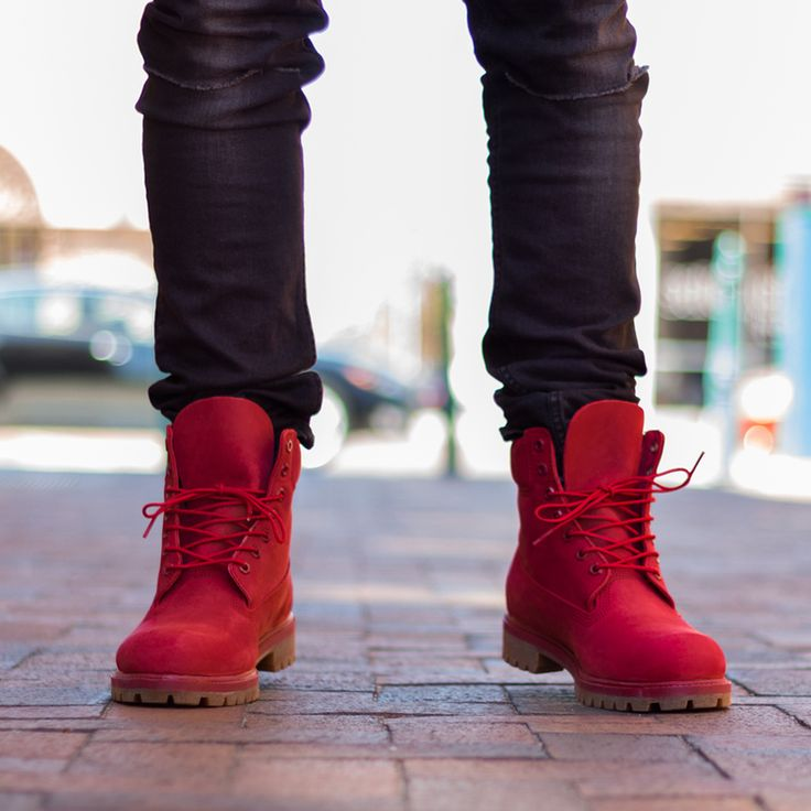 Top 25 Ideas About Red Timberland Boots On Pinterest